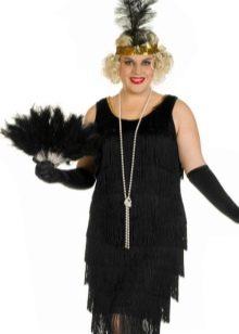 Черное платье в стиле Гэтсби большого размера