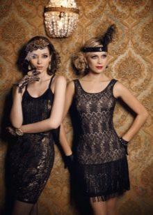 Платья черного цвета в стиле Гэтсби