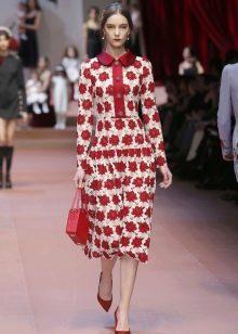 Винтажное платье от Dolce & Gabbana прямое