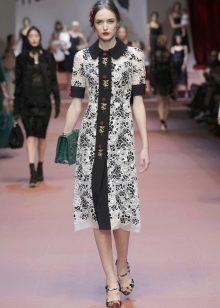 Винтажное платье от Dolce & Gabbana на пуговицах
