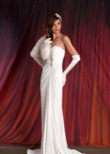 Белое винтажное платье