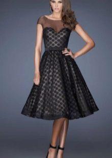 Платье в стиле нью лук черное