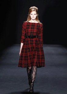 Винтажное платье от Badgley Mischka клетчастое