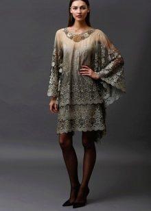 Винтажное платье от Badgley Mischka свободное
