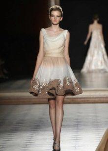 Короткое пышное платье в стиле винтаж