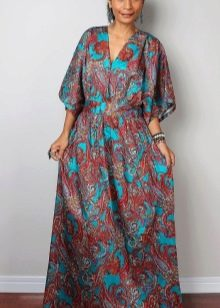 Повседневное длинное платье кимоно