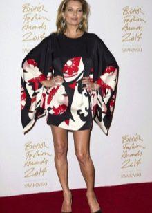 Короткое платье кимоно в восточном стиле