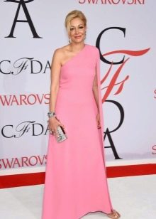 розовое платье для зрелых женщин в пол