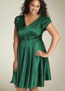 Шелковое платье для полных