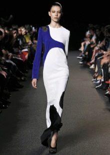 Спортивное платье для торжества бело-синее