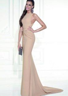 Платье темного телесного цвета