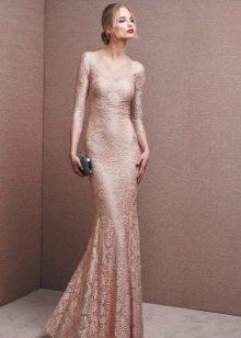 Платье телесного цвета от бренда Ла Споса