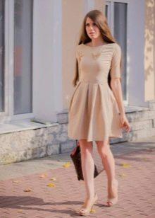 Телесное платье нью лук
