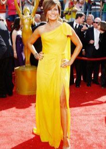 Желтое платье греческое