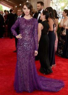 Фиолетовое платье с блестками
