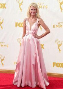 Платье цвета кашемировой розы в пол