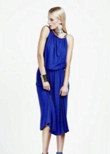 Синее платье свободное