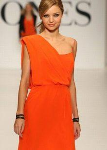 Оранжевое короткое платье