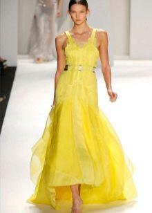 Платье цвета сочный лимон