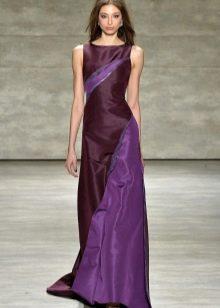 Платье цвета аметистовой орхидеи в пол со вставками