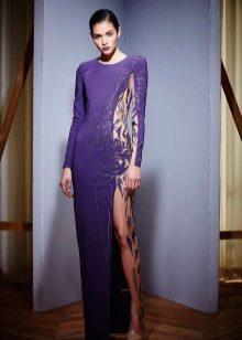 Платье цвета аметистовой орхидеи в пол