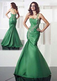 Зеленое платье русалка