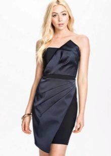 Асимметричное короткое платье черного цвета