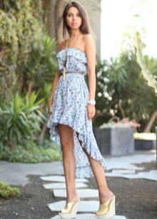 Асимметричное платье-бюстье