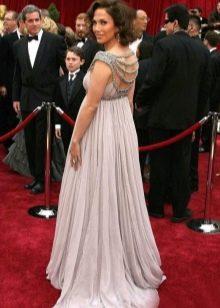 Длинное платье в пол для беременных