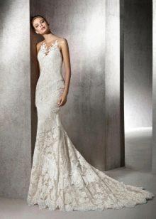 Платье русалка свадебное кружевное
