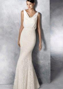 Платье русалка свадебное со свободным верхом