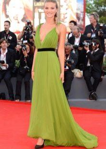 Греческое платье зеленое