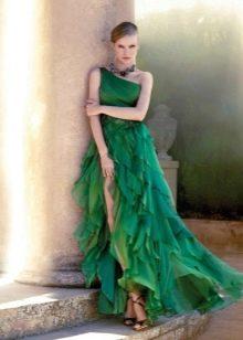 Платье смок с разрезом