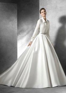 Свадебное платье рубашка пышное