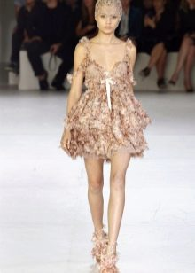 платье бэби долл цветастое