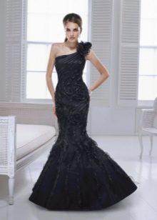 Платье русалка на одно плечо