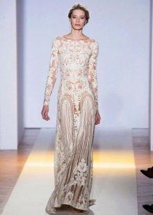 гипюровое платье в пол свадебное