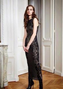 Гипюровое платье миди