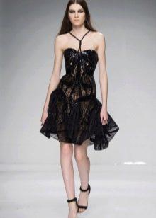 Платье из гипюра короткое вечернее