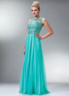Выпускное платье с гипюровым верхом