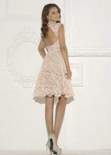 Гипюровое платье короткое
