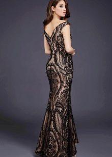 Платье гипюровое с телесной подложкой