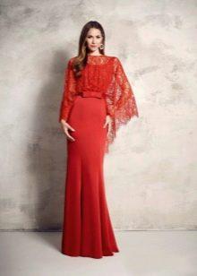 Платье гипюровое с пышным рукавом
