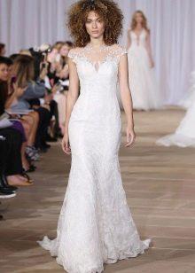 Свадебное платье прямое гипюровое