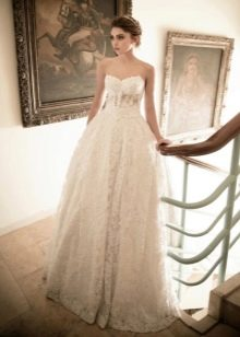 Пышное гипюровое платье свадебное