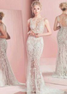 Гипюровое платье полупрозрачное
