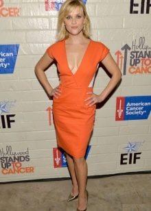 Оранжевое платье для женщин цветотипа Лето
