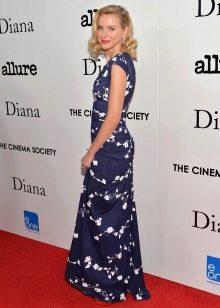 Синее платье с мелким принтом для женщин цветотипа Лето
