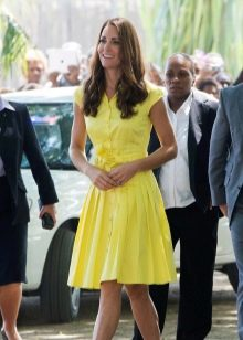 Желтое платье-рубашка для женщин цветотипа Лето