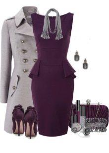 Фиолетовое платье и аксессуары к нему для цветотипа Светлое Лето